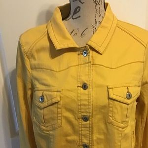 NWT Large One World Yellow Denim w/Brass Buttons